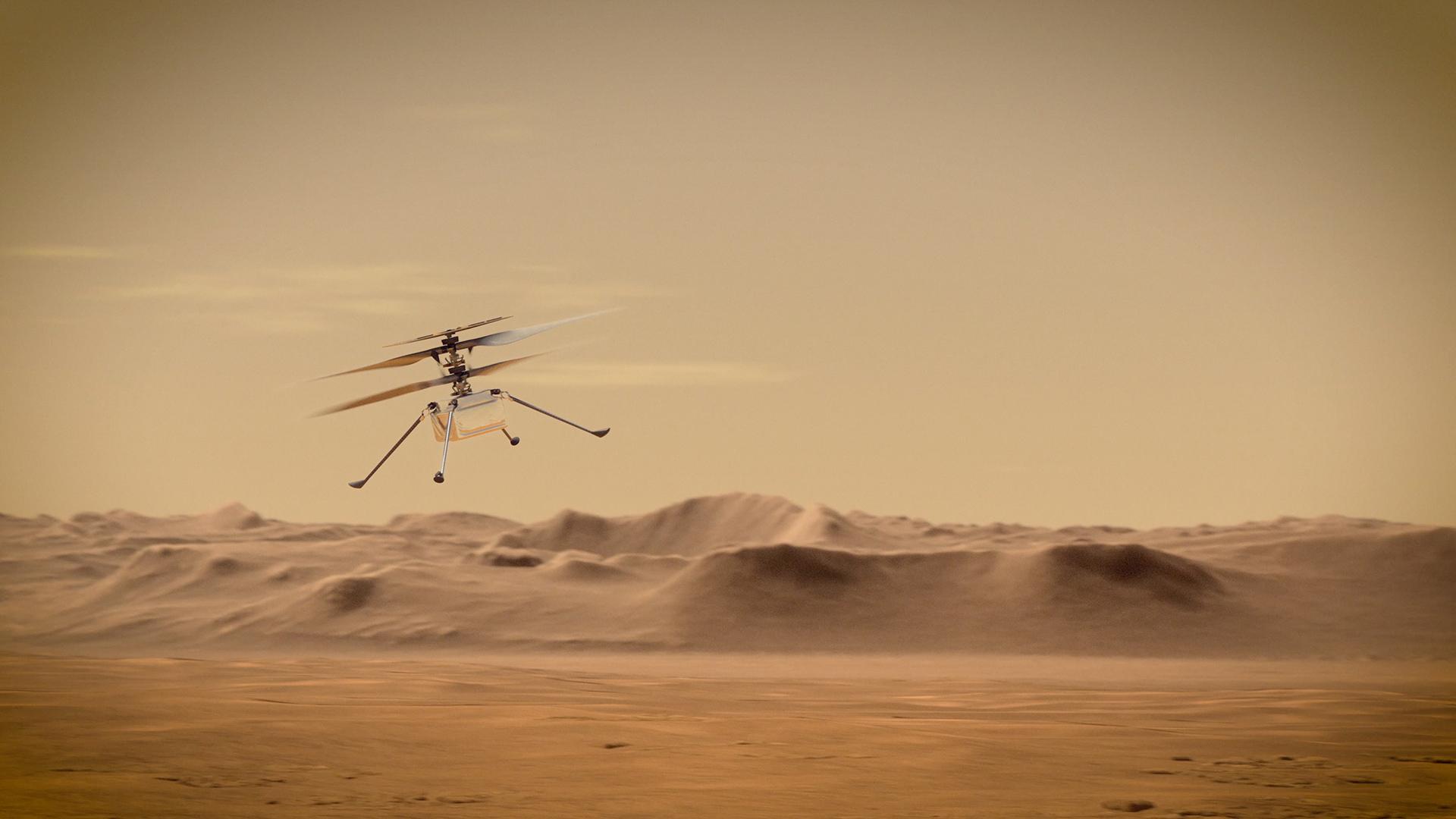 Die Mars-2020-Landestelle im HRSC-Geländemodell